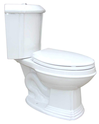 Corner Elongated White Dual Button Flush Bathroom Toilet