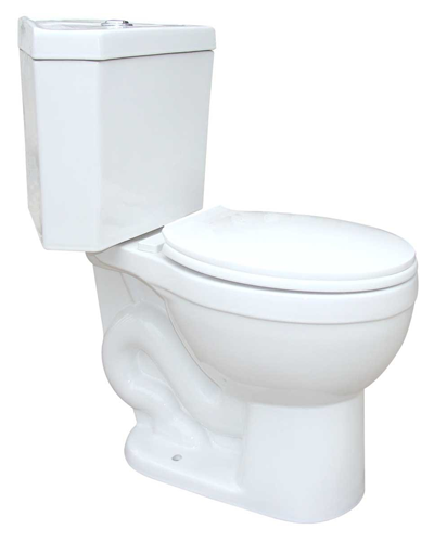 Corner White Round Dual Flush Bathroom Toilet